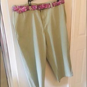 Capri Length Cotton Pants